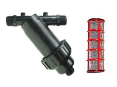 """Szűrő fémhálós 1"""", kupakkal, 5 m3/h, 155 mesh/100 mikron"""