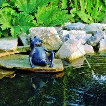 Béka kerti vízköpő 32cm