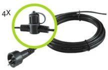 Garden Lights fő kábel 4 elosztó, 10m SPT-1W