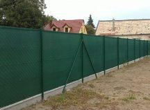 Árnyékoló háló 1,5x10m zöld 80%