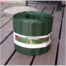 Műanyag ágyásszegély 15cmx9m, zöld PE.