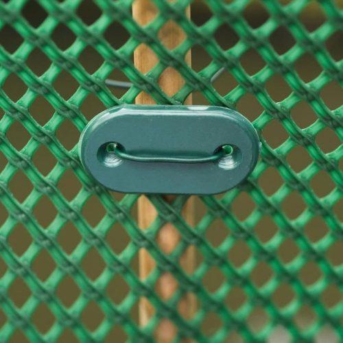Árnyékoló háló rögzítő szett, zöld 26db-os
