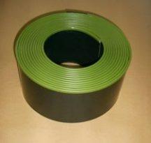 Műanyag ágyásszegély (mulcsozható) díszcsíkkal, 2mm x 15 cm x 10 m