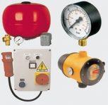 Szivattyú vezérlő, nyomáskapcsoló, áramláskapcsoló